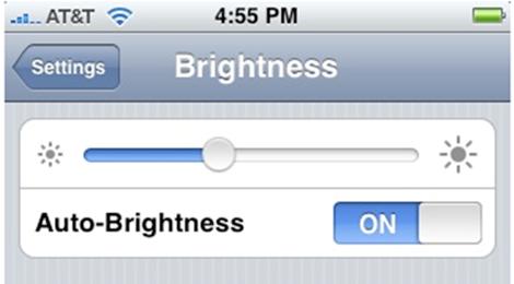 Điều chỉnh độ                sáng màn hình